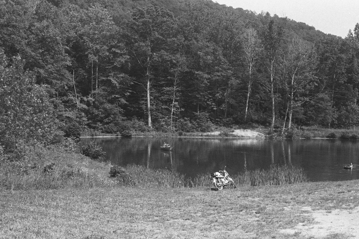 Little Lost Valley Cabin: The Lakel At Our Cabin In Lost Valley, Virginia 1974